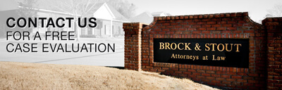 Brock and Stout Office street sign