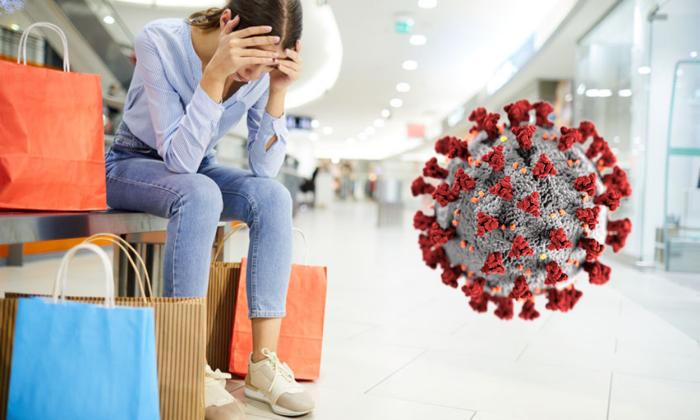 woman in bankruptcy and coronavirus